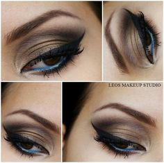Khaki Blue Eye Make-Up
