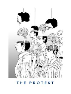 19 THE PROTEST 'You're Dead!' Flying Lotus artwork by Shintaro Kago