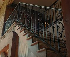 Staircase Railings | Custom Design Wrought Iron Staircase Rails