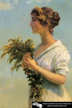 Girl with Goldenrod  Charles Courtney Curran