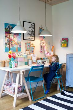 - Study Corner, Gallery Wall Frames, Home Office, Kids Store, Fashion Room, Craft Storage, Girl Room, Room Inspiration, Kids Bedroom