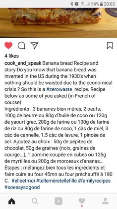 Banana bread variation (by cook_and_ speak from Instagram.