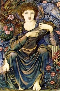 Edward Burne-Jones, The Angels of Creation, Detail Day 6 1875