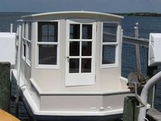 I built this house boat on a Hurricane deck boat hull.I live in Florida and go north for the summer. Pontoon Houseboat, Houseboat Living, Houseboat Ideas, Pontoon Boats, Wooden Boat Plans, Wooden Boats, Hurricane Deck Boat, Aluminum Flat Bottom Boats, Trailerable Houseboats