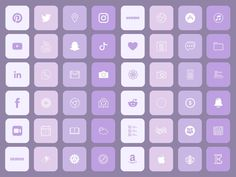 Purple Lovers iOS Icons Pack 60 Icons | iPhone iOS 14 App Icons | Purple Palette Theme