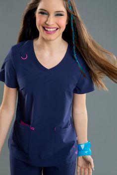 NEW STYLE! Smitten's RUMOR top. Available in 7 hot colors!101004 RUMOR #smitten #scrubs #medical #uniforms #nursing #dental #hygienist #vet #tech #womens #scrubs #fashion #new #styles
