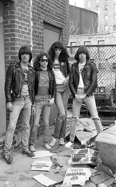 Ramones at the Bowery, by Chalklie Davies, New York, 1977 via