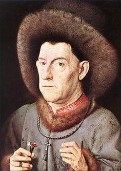 Man with a Carnation Handbuch der Kunstgeschichte 1912 Canvas Art - Jan Van Eyck x Pink Canvas Art, Google Art Project, Museum, 15th Century, Carnations, Artist Canvas, Portrait, Art Google, Illustration