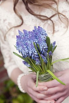 Muscari  and chain grass bouquet