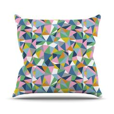 #abstraction #abstract #triangles #geometric #rainbow #colour #color #blocks #pink #projectm #emeline #kess #kessinhouse #artforthehome #throw #pillow