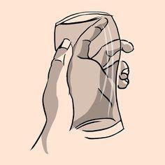 Hand and glass study.