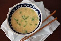 Egg drop soup, omit cornstarch when making it Whole30 style.