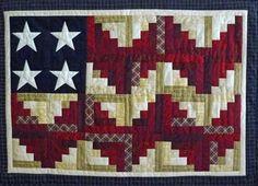 Log Cabin flag quilt - love it!