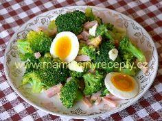 Brokolicový salát Vegetable Salad, Cobb Salad, Healthy Recipes, Healthy Food, Vegetables, Tiramisu, Anna, Health Foods, Vegetable Salad Recipes