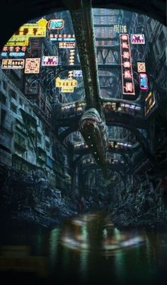 Cyberpunk Images — Obvs not Manhattan, but a. Cyberpunk Aesthetic, Cyberpunk City, Arte Cyberpunk, Futuristic City, Sci Fi Fantasy, Fantasy World, Space Opera, Sci Fi City, Post Apocalypse