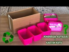 Awesome idea with cardboard and ice cream boxes Cardboard Storage, Cardboard Crafts, Recycling, Diy Videos, Plastic Bottles, Hobbies And Crafts, Ice Cube Trays, Diy Gifts, Easy Diy