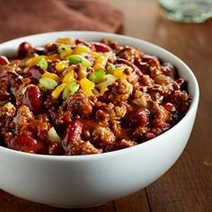 Check out this great recipe from French's: Simply Better Chili! Best Chili Recipe, Chili Recipes, Crockpot Recipes, Cooking Recipes, French Sauces, Great Recipes, Favorite Recipes, Mustard Recipe, Homemade Chili