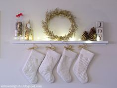Hanging Christmas stockings without a mantle or fireplace this year-- time to improvise . .
