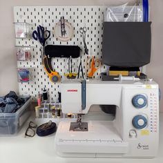 My Sewing Room Set Up + Tips for Sewing in a Small Space! - Sewing storage for small spaces - Small Sewing Space, Small Closet Space, Sewing Spaces, Small Space Storage, Small Space Organization, Small Spaces, Sewing Room Organization, Craft Room Storage, Fabric Storage
