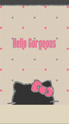 Ipod Wallpaper, Wallpaper Backgrounds, Hello Kitty Pictures, Hello Kitty Wallpaper, Best Iphone Wallpapers, Cell Phone Covers, My Melody, Hello Gorgeous, Sanrio Characters