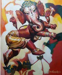 #SubrataGangopadhyay #art #artonline #bengalart #indianart #onlineartgallery #buyart #livingwithart #modernart #ContemporaryArt #knowyourartist Contemporary Artists, Modern Art, Ganesha Art, Orange Red, Pink Blue, Yellow, Buy Art Online, Art Portfolio, Indian Art