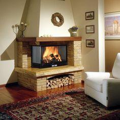 traditional corner fireplace
