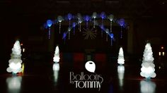 A winter wonderland dance floor lights up when the lights go out! | Balloons by Tommy | #balloonsbytommy