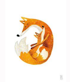Animal illustrations - Guestpinner @happymakersblog - llustrator: Carmen Saldana…