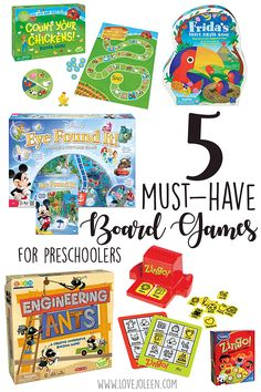Love, Joleen: 5 Must-Have Board Games for Preschoolers //  Homeschool ; Preschool ; Gameschooling