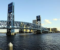 Main Street Bridge is a stunning structure crossing St. Johns River in Jacksonville