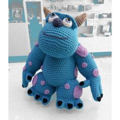 Monsters Inc Crochet, Amigurumi Patterns, Knitting Patterns, Crochet Patterns, Diy Crochet And Knitting, Crochet Toys, Yarn Crafts, Crochet Projects, Crochet Dolls