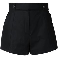 Courrèges press stud shorts ($336) ❤ liked on Polyvore featuring shorts, bottoms, pants and black