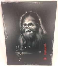 Disney WonderGround Gallery Star Wars ROAR Chewbacca Canvas Art Print NOAH #Disney