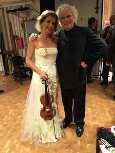 Anne-Sophie Mutter y Sir Simon Rattle