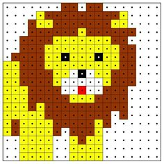 Fuse bead lion