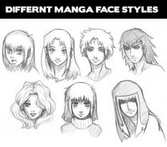 how to draw manga heads step 1