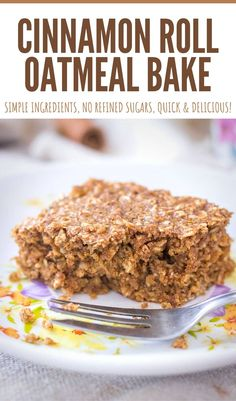 Sweet and utterly delicious, this Cinnamon Roll Oatmeal Bake makes perfect breakfast. It's loaded with amazing cinnamon roll flavor and made with all the healthy stuff. Nutritious, filling and easy to make, it will satisfy your cravings in a healthy way. ---- #cinnamonroll #cinnamon #oatmeal #oatmealbake #breakfast #healthybreakfast #familybreakfast #easyrecipe #healthy #healthybreakfast Best Breakfast Recipes, Quick And Easy Breakfast, Savory Breakfast, Breakfast Bake, Perfect Breakfast, Breakfast Ideas, Sweet Recipes, Yummy Recipes, Delicious Desserts