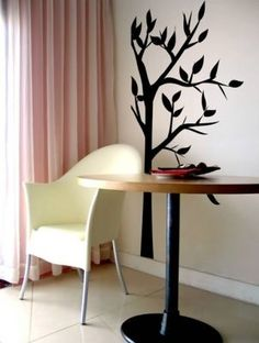 Slim Tree Wall Decal by easydecals on Etsy, $74.99 - I am really liking wall decals.  Thanks Danielle.  =)