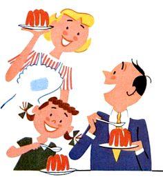 "livingnowisliving: "" MrsPolly Rogers saved to RETRO JELLO Mmmmm jello time! Vintage Illustration Art, Vintage Drawing, Dessert Illustration, Retro Illustrations, Tree Illustration, Retro Cartoons, Vintage Cartoon, Vintage Advertisements, Vintage Ads"