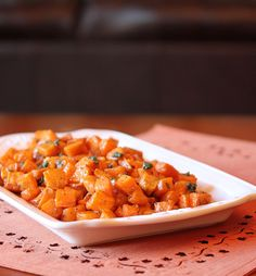 Roasted Sweet Potatoes with Brown Butter Maple Sauce