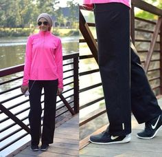 Modest Gym Outfits Gym Wear Ideas for Modest Workout Look Modest Outfits, Cool Outfits, Gym Outfits, Modest Workout Clothes, Official Dresses, Sports Trousers, Outfit Trends, Stylish Shirts, Running Shirts