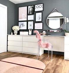 Interior Living Room Design Trends for 2019 - Interior Design Home Bedroom, Bedroom Decor, Bedrooms, Bedroom Ideas, Ikea Bedroom, Design Bedroom, Master Bedroom, Decoration Gris, Interior Decorating