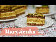 MARYSIENKA - Prăjitură cu nuci si cremă de vanilie (rețetă FARA praf de copt) || Dulcinele 🍰 - YouTube Romanian Desserts, Choux Pastry, Vanilla Cream, Pastel, Cake Cookies, Tiramisu, Sweets, Baking, Ethnic Recipes