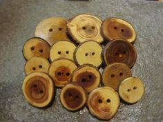 Wooden Button Grab Bag. 15 Buttons. by PymatuningCrafts on Etsy, $9.00
