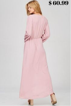 In Paris Long Sleeve Drape Maxi Dress - Blush $ 60.99 #DRESSES #TOPS #BOTTOMS #SWIMWEAR #SHOES #KIDS #PLUSSIZES #LINGERIE #ACCESSORIES #SALE #Bandage #Pencil #Maxi #Lace #Chiffon #Mini #Vintage #Evening #LongSleeves #Casual #T-shirt #Blouses #Sweatshirts #Hoodies #Sweaters #Cardigans #Outerwear #SuitSets #Bodysuit