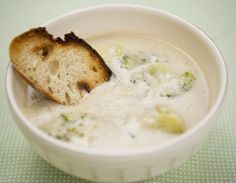Cool! Cream of Broccoli Soup made w/cream from raw Cashew & Veg broth base. Sounds good!