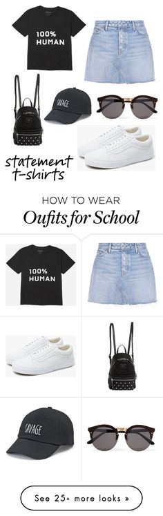 """Untitled #123"" by elizabethtz on Polyvore featuring Everlane, Vans, GRLFRND, GUESS, SO and Illesteva"