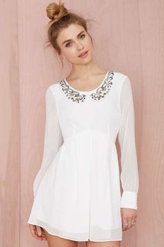 Nasty Gal Earth Angel Embroidered Dress   Shop Dresses at Nasty Gal