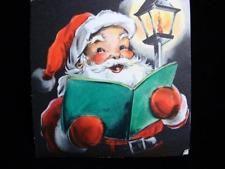 Vintage Christmas Greeting Card Santa Checking His List Mid Century Old Christmas, Old Fashioned Christmas, Christmas Things, Vintage Christmas Cards, Christmas Greeting Cards, Christmas Greetings, Vintage Cards, Vintage Postcards, Christmas Ornaments