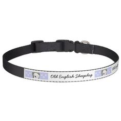 #Old English Sheepdog Pet Collar - #petcollar #petcollars #puppy #dog #dogs #pet #pets #cute #doggie #dogcollar #dogcollars